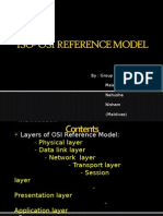 OSI ISO refernce model
