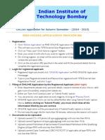 PHD ONLINE Application Procedure (IIT Bombay)