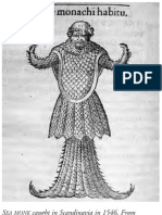 SEA MONK Caught in Scandinavia in 1546. From Guillaume Rondelet,