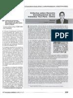 Criterios sobre Derecho Constitucional de los Tratados TLC Perú - China