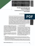 El retiro de Colombia del Pacto de Bogotá