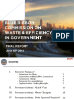 Blue Ribbon Efficiency Commission Meeting Presentation Final Report