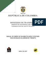 INVIAS - Manual de Diseño de Pavimentos Asfálticos Para Vías Con Bajos Volúmenes de Tránsito 2007