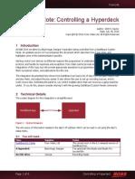 Dashboard Hyperdeck Tech Note