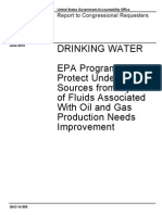 GAO-14-555 Drinking Water and Fracking report