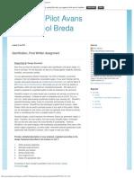 Avans Hogeschool Breda Assignment 03