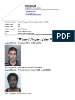 Wanted People of the Week-Multiple