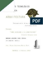 Ensayo Cómo Acercarse a La Arquitectura