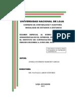 Examen Especial Al Rubro Viaticos y Subsistecias en El Inter