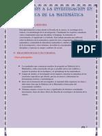 Aproximación a la investigación en didáctica de la matemática