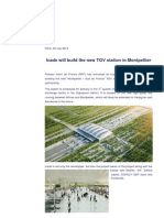 20140729 -PR - Icade Will Build the New TGV Station in Montpellier