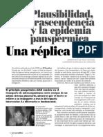 Plausabilidad, Trascendencia y La Epidemia Panspermica, Una Replica - Jordi L. Guitierrez