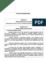 Nota de Fundamentare Rectificare 2014
