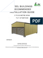 Fair Dinkum Steel Buildings Recommended Installation Guide - Tilt Up Method