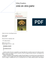 Copia de Kundera Milan - La Vida Esta en Otra Parte