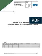 SIAE User Manual FI - FI Customer Invoice Creation