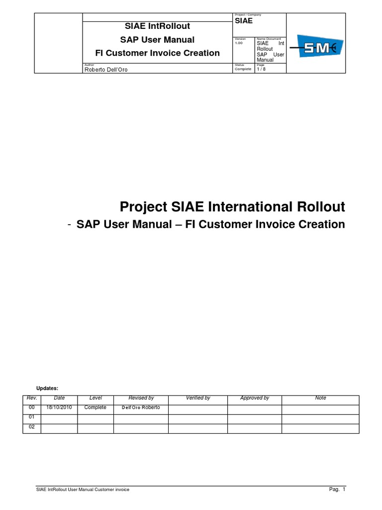 siae user manual fi fi customer invoice creation payments rh scribd com sap user manual for costing run sap user manual for down payment