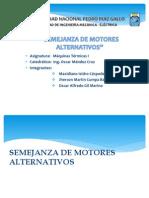 Semejanza de Motores de Combustión Interna Alternativos (MCIA)