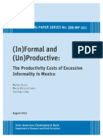 2012 - The Productivity Costs of Excessive Informality in Mexico