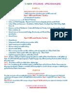 CSE Preli & Main Syllabus