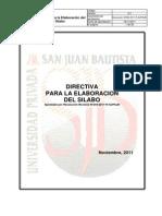 Directiva Para La Elaboración Del Sílabo v.2.1
