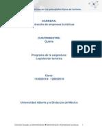 Unidad 3 Regulaciones Juridicas en Los Principales Tipos de Turismo