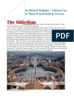 Action From the Richest Religion Vatican Can Wipe Out Entire Third World Debt & Poverty