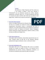 Páginas Webs
