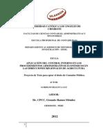 Proyectos Control Interno Procedimientos Asministrativos