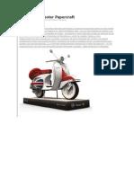 INSTRUCCIONES Vespa 150 Scooter Papercraft