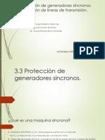Exposicion Protecciones Generador Sincrono