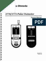 Datex Ohmeda 3770 3775 - Service Manual