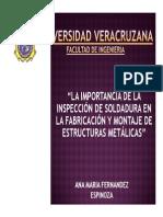 Presentacion - La Importancia de La Inspeccion de Soldaduras
