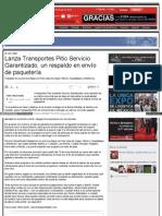 Lanza Transportes Pitic Servicio Garantizado, un respaldo en envío de paquetería.
