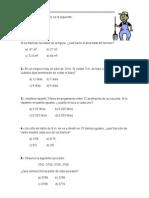Ejercicio Matemáticas