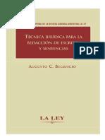 Belluscio - Técnica Jurídica Para La Redacción de Escritos y Sentencias
