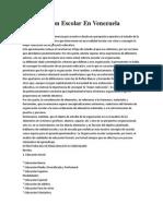 Organizacion Escolar en Venezuela