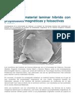 Material Laminar Con Propiedades Magnéticas y Fotoactivas
