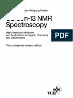 Carbon C13 NMR Spectroscopy