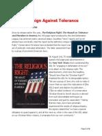 ADL Campaign Against Tolerance