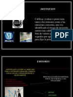 Presentacion Calificadoras de Riesgo