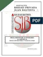 Reglamento de Actividades Académicas v 4 0 RR 158-2013