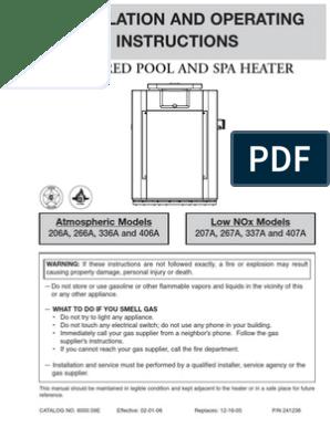 010045F Raypak Heat Exchanger 336//337A Polymer