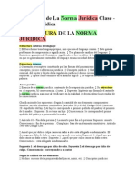 Estructura de La Norma Juridica Clase