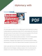 Backdoor Diplomacy With Zuberi