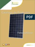 110509 Catalogo Español Fotovoltaica