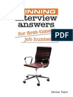 Winning Interview Answers for First-time Job Hunters