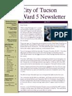 Councilmember Richard Fimbres July 2014 Newsletter