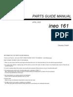 Ineo 161 Parts