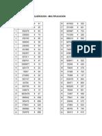 Ejercicios - Multiplicación y División